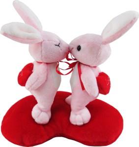 Tabby Toys Kissing Soft Bunny On Heart  - 22 cm