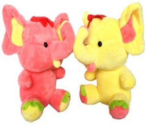 Chinmayi Small Combo Elephant Soft Toy, Gift Smile To Your Kids  - 20 cm