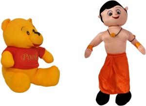 Poonam Big Size Chota Bheem Kids Plush Soft Toy 50cm (20inch) With Big Size Pooh  - 50 cm