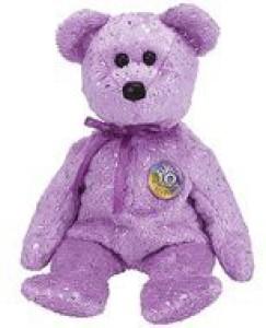 Ty Beanie Ba Decade The Bear (Purple Version)