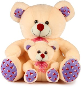PIST Soft Toys Gift Mother Baby Teddy Bear Pink Color  - 45 cm