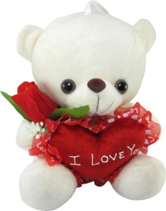 Tickles I Love You Teddy With Rose & Heart  - 21 cm