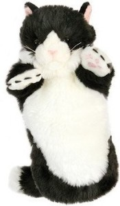 The Puppet Company Black And White Cat Long Sleeved Glove Puppet