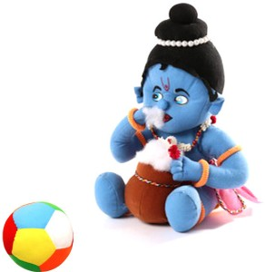 Saugat Traders Makhan Chor with Soft Ball  - 15 Inch