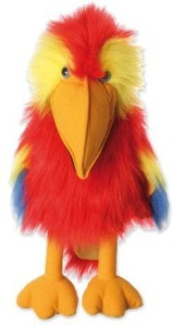The Puppet Company Large Bird Series Scarlet Macaw