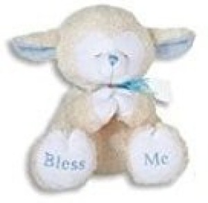 Kelli's Gifts Praying Lambs8 Inch/Blue/Plays