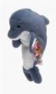TY Beanie Babies Echo The Dolphin With Waves Tags