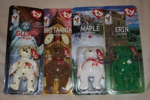 Ty Mcdonald'S Teenie Beanies International Bears Set Of 4