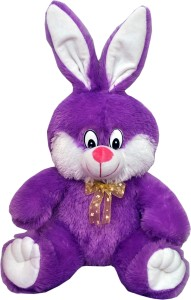 Tabby Purple Cute & Happy Bunny Soft Toy  - 35 cm