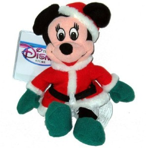 Disney Minnie Santa 1997 Mini Bean Bag Plush