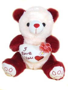 Tickles I Love You Heart Teddy With Rose  - 35 cm