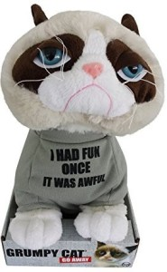 Grumpy Cat Animal Plush 10 Inch Tshirt Says I Had Fun Once It Was