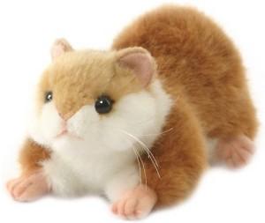 Hansa Plush Lying Brown Hamster 7