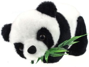 Tickles Panda With Leaves  - 40 cm