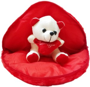 Scrazy Cute Teddy Bear in the Heart For Your Valentines  - 20 cm