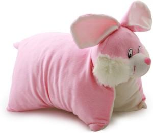 Annie Teddy Pillow Stuff Toy Folding Cushion Rabbit  - 10 cm