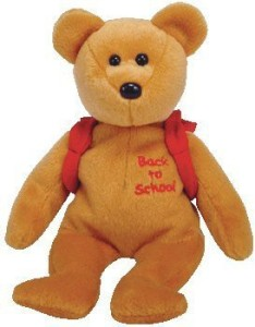 Ty Books The Bear Red Backpack And