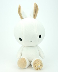 Bellzi White With Tan Bunny Animal Plush Bunni Made In Usa