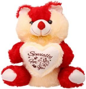 Ktkashish Toys kashish Cute red & cream teddy bear 22 inch  - 22 inch