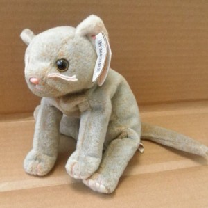 63f78662566 Smartbuy Ty Beanie Babies Scat The Cat Animal Plush 8 Inches Long ( Grey )