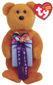 Ty Happy Birthday Mini Birthday Bear