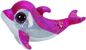 Ty Beanie Boos Sparkles The Pink Dolphin Plush