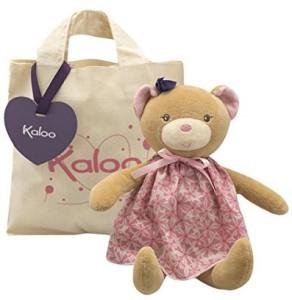 Kaloo Petite Rose Bear Doll With Tote