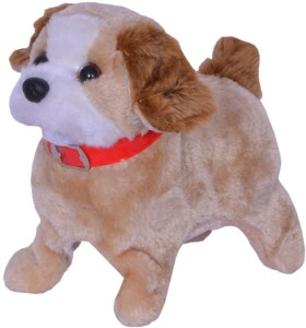 Catterpillar Battery Operated Walking , Barking & Jumping Puppy Toy for Kids  - 12 cm
