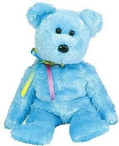 Ty Beanie Ba Sherbet The Bear (Blue Version)
