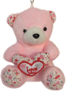 Tickles Love You Teddy with Heart  - 7 inch