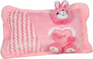 Cuddles Collections Soft baby pillow Pink  - 36 cm
