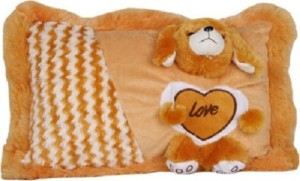 Cuddles Collections Soft baby pillow Brown  - 36 cm