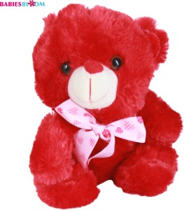 Babies Bloom Red Be My Valentine Plush Stuffed Teddy Bear With Pink Knot  - 20 cm