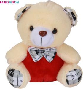 Babies Bloom Comfortable Cream Teddy Bear Plush Toy With Necktie  - 20 cm