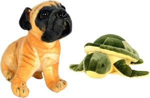 Alexus Pug Dog And Turtle  - 32 cm