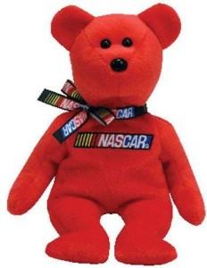 Ty Nascar Racer Bear Red