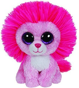 Ty Beanie Boos Fluffy Pink Lion