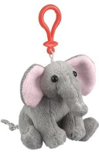 Wildlife Artists Elephant Plush Elephant Stuffed Animal Backpack Clip Toy Keychain WildLife Hanger  - 20 inch