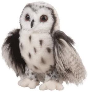 Douglas Cuddle Toys Crescent Silver Owl 9