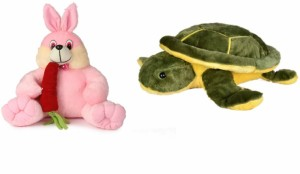 Deals India Deals India Bunny with carrot - 35 cm and Giant Turtle Soft Toy -25 cm  - 35 cm