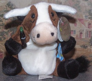 Coca-Cola Bean Bag Plush Vaca Long Horn Cow Representing Argentina