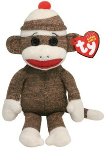 TY Beanie Babies Socks The Sock Monkey Brown