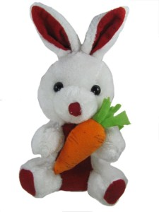 Tickles Rabbit with Carrot  - 7 inch