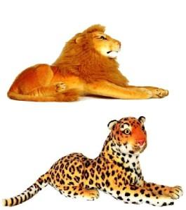 VRV Wild Animal Cheetah and Lion  - 17 cm