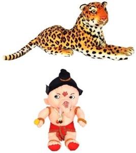 VRV VRV Wild Animal Cheetah and Ganesha  - 25 cm