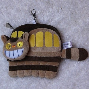 JapanCos Studio Ghibli My Neighbor Totoro Catbus Plush Change Purse