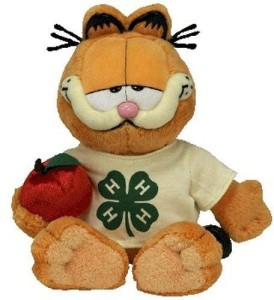 Ty Beanie Ba Garfield The 4H Cat (4H Exclusive)