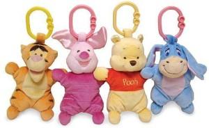Disney Winnie The Pooh Attachable Mini Plush (Styles Vary)