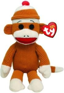TY Beanie Babies Socks Monkey (Tan)