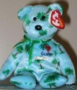 Ty Beanie Ba Guam The Bear (I Love Guam Exclusive)